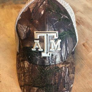 Texas A&M Aggies ATM camo hat cap adjustable